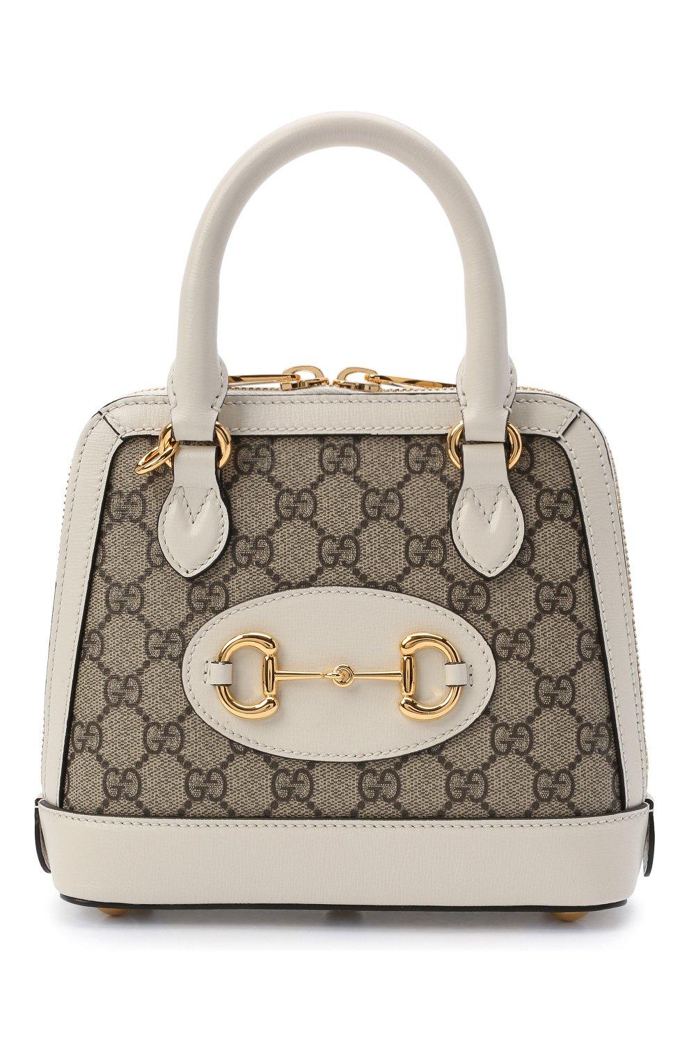Женская сумка gg 1955 horsebit GUCCI белого цвета, арт. 640716/92TCG | Фото 1