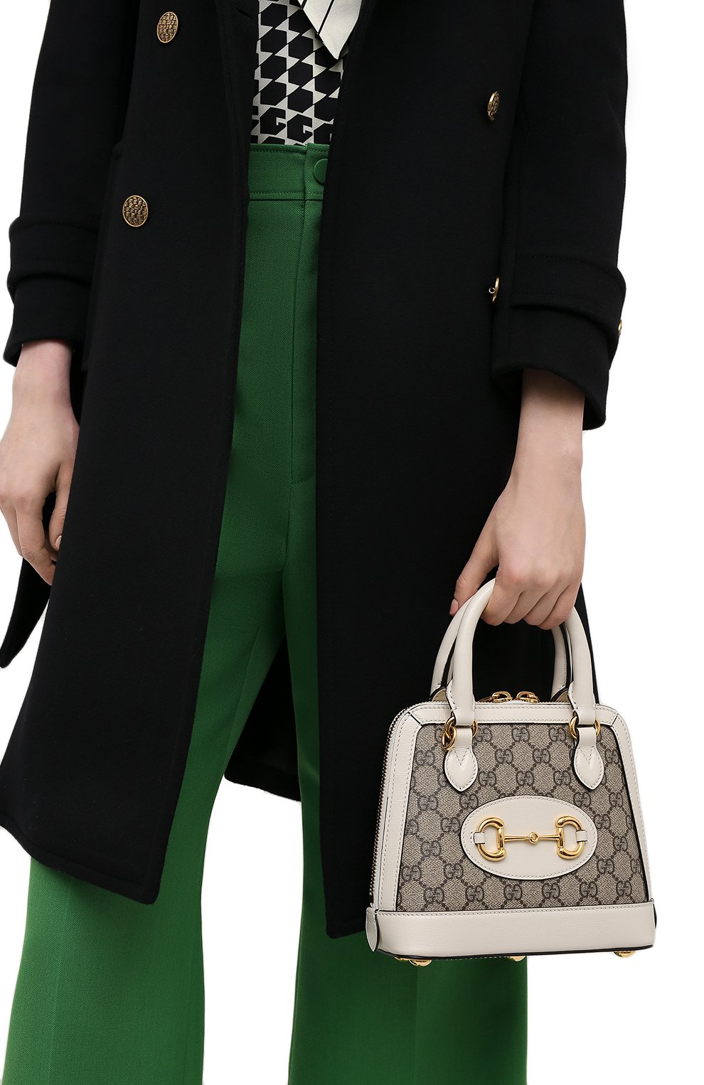 Женская сумка gg 1955 horsebit GUCCI белого цвета, арт. 640716/92TCG | Фото 2