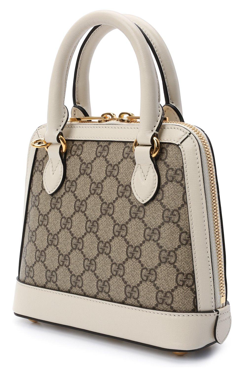 Женская сумка gg 1955 horsebit GUCCI белого цвета, арт. 640716/92TCG | Фото 3