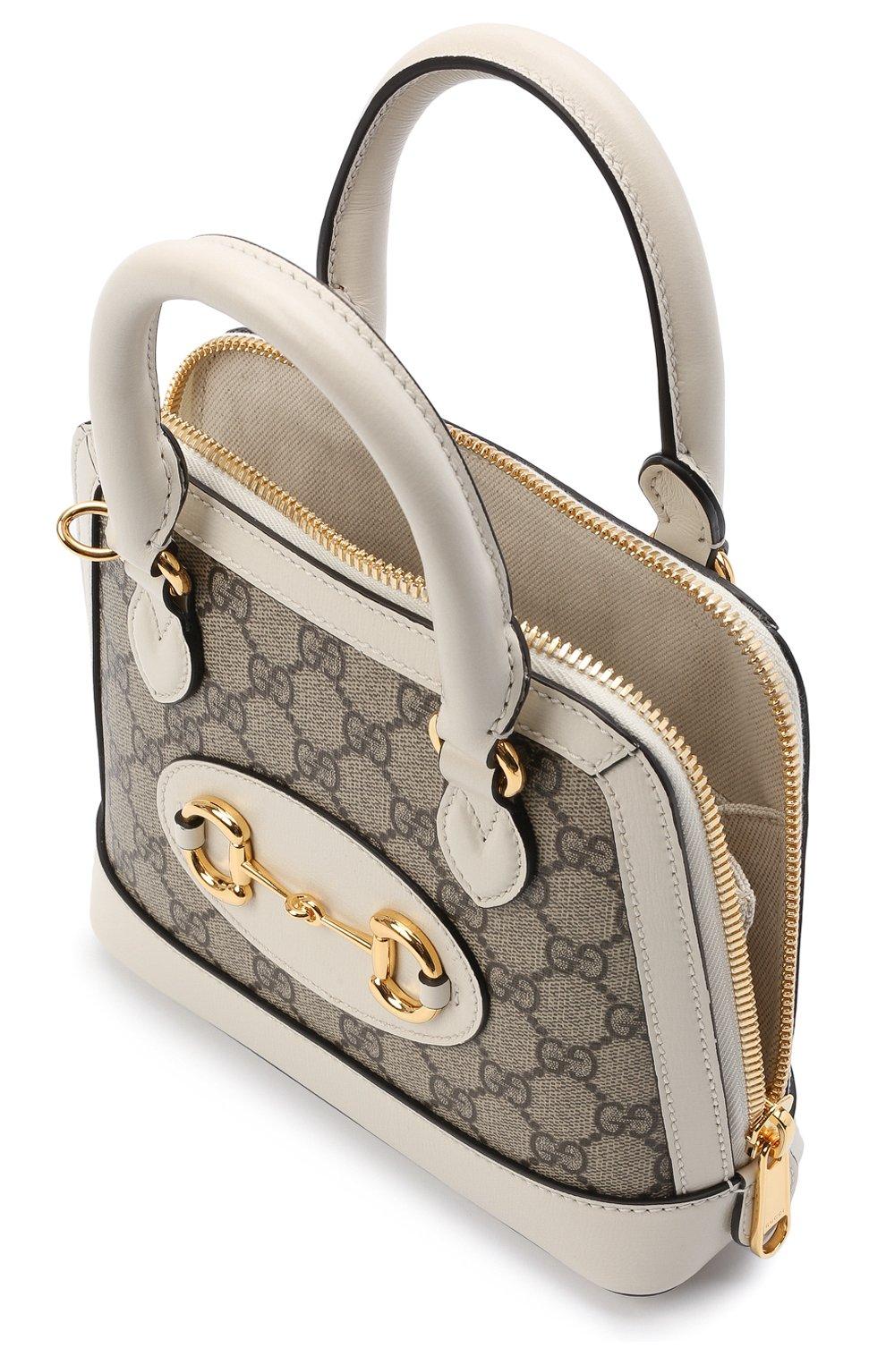 Женская сумка gg 1955 horsebit GUCCI белого цвета, арт. 640716/92TCG | Фото 4