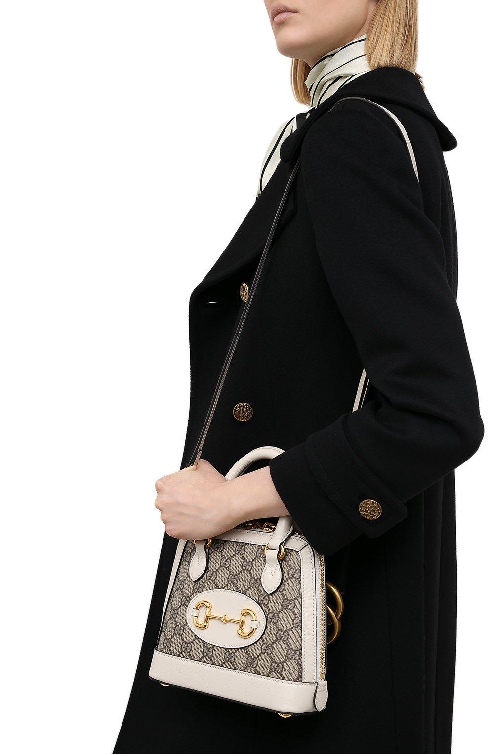 Женская сумка gg 1955 horsebit GUCCI белого цвета, арт. 640716/92TCG | Фото 5