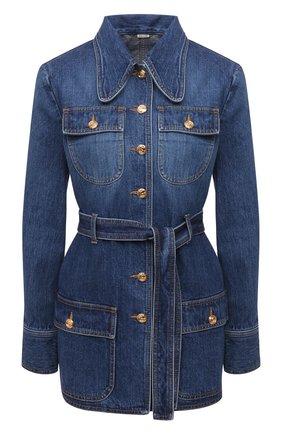 Женский джинсовый жакет GUCCI синего цвета, арт. 644507/XDBJ4 | Фото 1