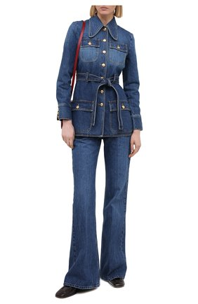 Женский джинсовый жакет GUCCI синего цвета, арт. 644507/XDBJ4 | Фото 2