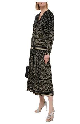 Женские текстильные босоножки LE SILLA серебряного цвета, арт. 8537Q100R1PPFES   Фото 2