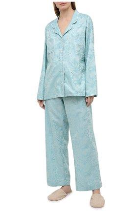 Женская хлопковая пижама DEREK ROSE зеленого цвета, арт. 2029-PARI019 | Фото 1