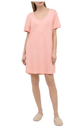 Женская сорочка DEREK ROSE светло-розового цвета, арт. 1207-LARA001 | Фото 2
