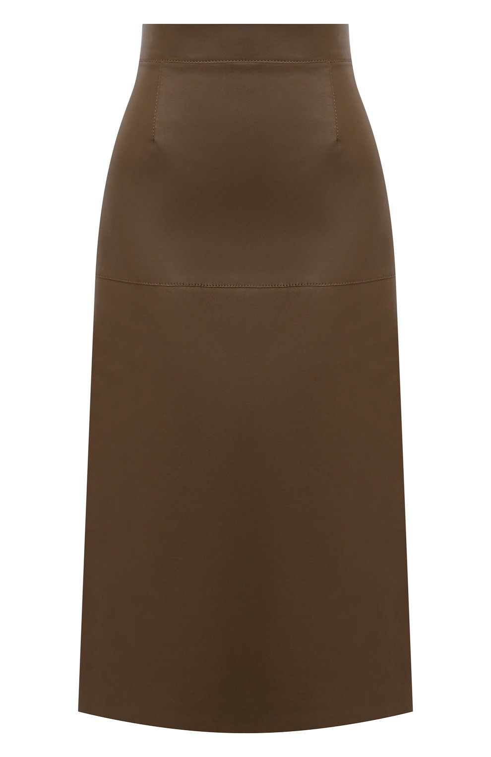 Женская кожаная юбка INES&MARECHAL коричневого цвета, арт. DAISY CUIR AGNEAU SINTRA | Фото 1