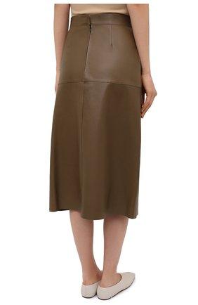 Женская кожаная юбка INES&MARECHAL коричневого цвета, арт. DAISY CUIR AGNEAU SINTRA | Фото 4