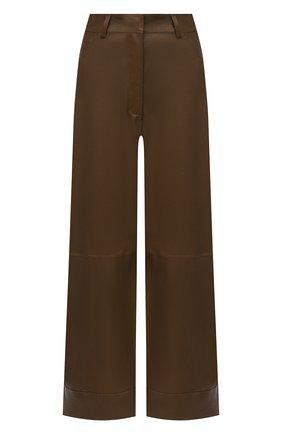 Женские кожаные брюки INES&MARECHAL коричневого цвета, арт. GEPPY CUIR STRETCH PL0NGE   Фото 1
