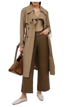 Женские кожаные брюки INES&MARECHAL коричневого цвета, арт. GEPPY CUIR STRETCH PL0NGE   Фото 2