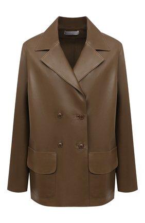 Женский кожаный жакет INES&MARECHAL коричневого цвета, арт. GRAINE CUIR AGNEAU SINTRA | Фото 1