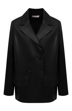 Женский кожаный жакет INES&MARECHAL черного цвета, арт. GRAINE CUIR AGNEAU SINTRA | Фото 1