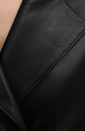Женский кожаный жакет INES&MARECHAL черного цвета, арт. GRAINE CUIR AGNEAU SINTRA   Фото 5