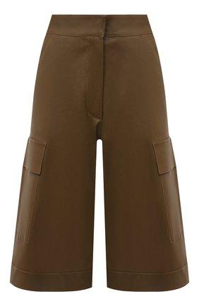 Женские кожаные шорты INES&MARECHAL коричневого цвета, арт. HUG0 CUIR STRETCH PL0NGE | Фото 1