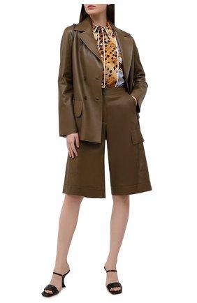 Женские кожаные шорты INES&MARECHAL коричневого цвета, арт. HUG0 CUIR STRETCH PL0NGE | Фото 2