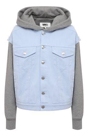 Женская куртка MM6 голубого цвета, арт. S52AM0163/STN983   Фото 1