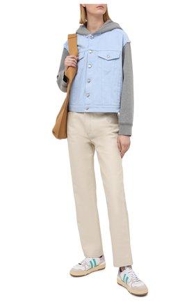 Женская куртка MM6 голубого цвета, арт. S52AM0163/STN983   Фото 2