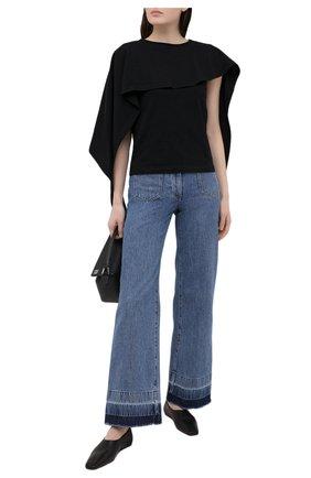 Женская хлопковая блузка JW ANDERSON черного цвета, арт. J00014 PG0079 | Фото 2