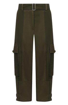Женские хлопковые брюки JW ANDERSON хаки цвета, арт. TR0129 PG0464 | Фото 1
