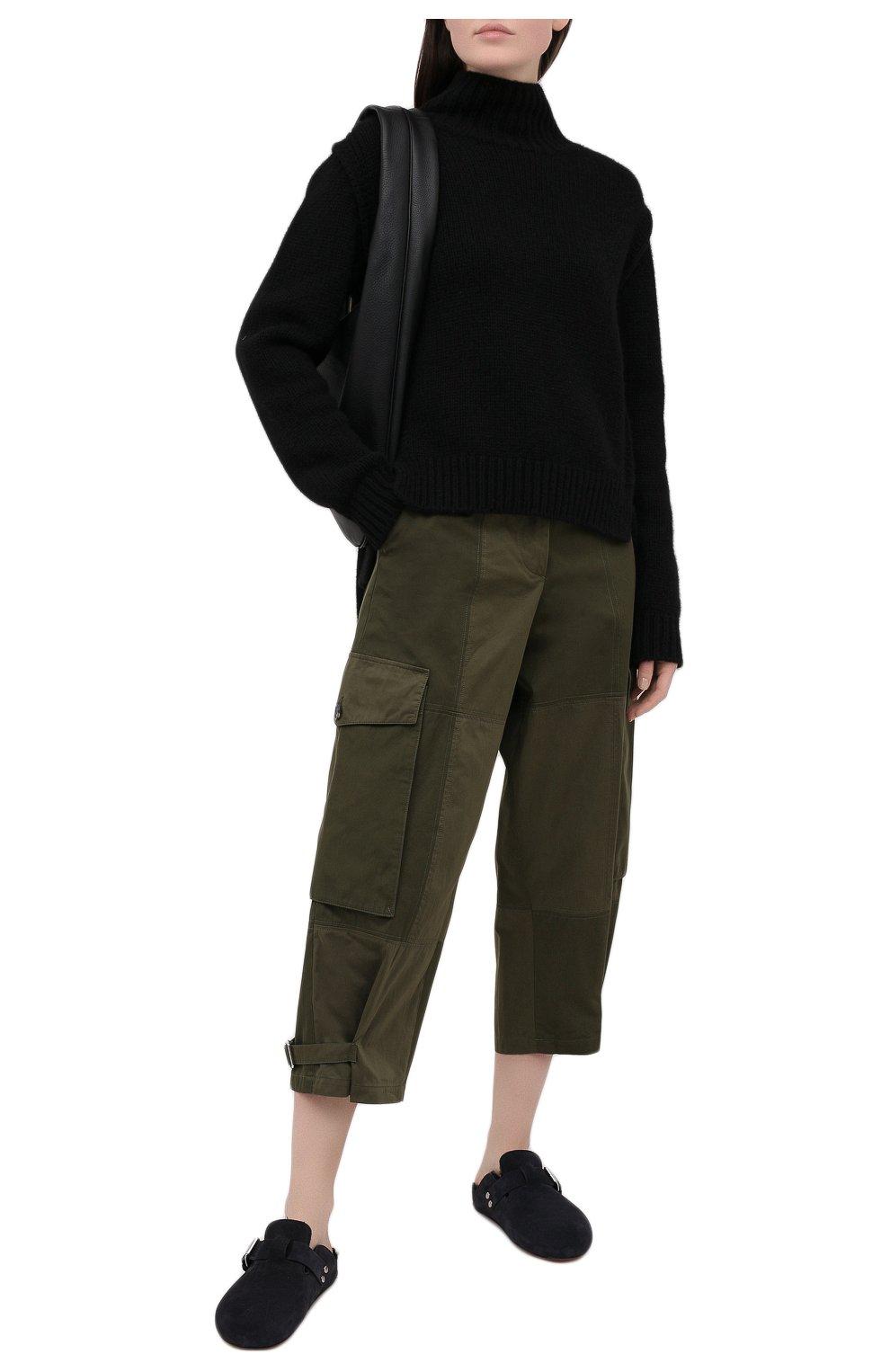 Женские хлопковые брюки JW ANDERSON хаки цвета, арт. TR0129 PG0464 | Фото 2