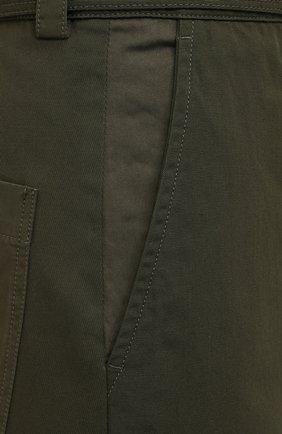 Женские хлопковые брюки JW ANDERSON хаки цвета, арт. TR0129 PG0464 | Фото 5
