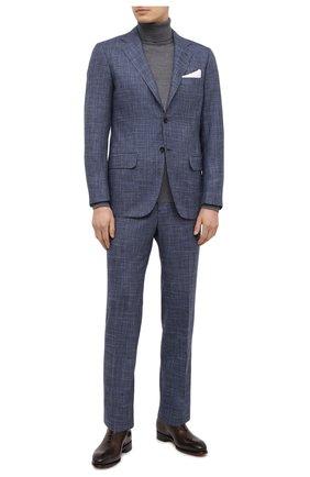 Мужской костюм из кашемира и шерсти KITON синего цвета, арт. UA81K06T11 | Фото 1