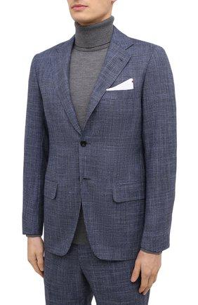 Мужской костюм из кашемира и шерсти KITON синего цвета, арт. UA81K06T11 | Фото 2