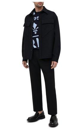 Мужской хлопковый джемпер BERLUTI синего цвета, арт. R19KRS51-001   Фото 2