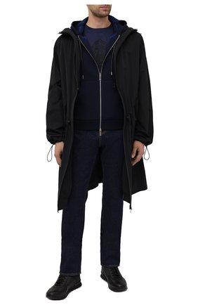 Мужской шерстяной кардиган BERLUTI синего цвета, арт. R19KHL95-001   Фото 2