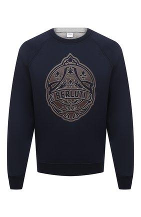 Мужской свитшот из вискозы BERLUTI синего цвета, арт. R19JRL51-001   Фото 1