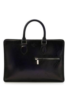 Мужская кожаная сумка для ноутбука BERLUTI синего цвета, арт. M214752   Фото 1