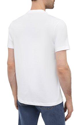 Мужская хлопковая футболка PAUL&SHARK белого цвета, арт. 21411097/C00   Фото 4 (Рукава: Короткие; Длина (для топов): Стандартные; Принт: С принтом; Материал внешний: Хлопок; Стили: Кэжуэл)