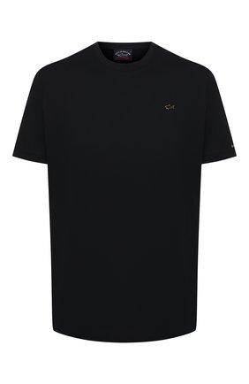 Мужская хлопковая футболка PAUL&SHARK черного цвета, арт. 21411017/C00 | Фото 1