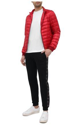 Мужская хлопковая футболка PAUL&SHARK белого цвета, арт. 21411017/C00 | Фото 2 (Принт: Без принта; Рукава: Короткие; Длина (для топов): Стандартные; Материал внешний: Хлопок; Стили: Кэжуэл)