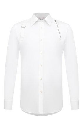 Мужская хлопковая рубашка ALEXANDER MCQUEEN белого цвета, арт. 630557/QPN44 | Фото 1