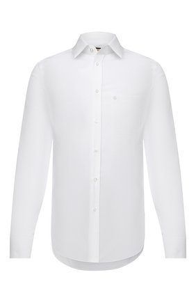 Мужская хлопковая рубашка GUCCI белого цвета, арт. 649696/ZAGIR | Фото 1