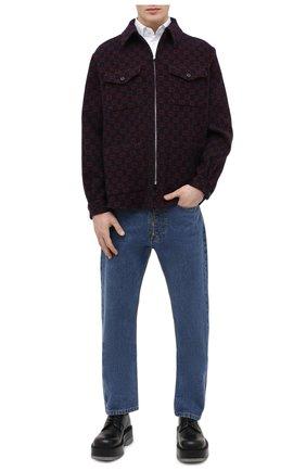 Мужская хлопковая рубашка GUCCI белого цвета, арт. 649696/ZAGIR | Фото 2 (Рубашки М: Slim Fit; Принт: Однотонные; Рукава: Длинные; Манжеты: На пуговицах; Длина (для топов): Стандартные; Случай: Повседневный; Материал внешний: Хлопок; Воротник: Кент; Стили: Кэжуэл)