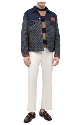 Мужской шерстяной свитер GUCCI бежевого цвета, арт. 645293/XKBPH | Фото 2