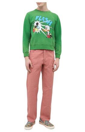 Мужской хлопковый свитшот disney x gucci GUCCI зеленого цвета, арт. 634554/XJC8R | Фото 2 (Принт: С принтом; Рукава: Длинные; Материал внешний: Хлопок; Длина (для топов): Стандартные; Мужское Кросс-КТ: свитшот-одежда; Стили: Гранж)