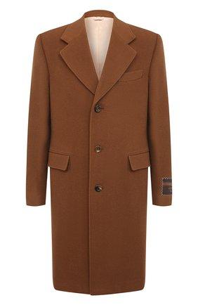Мужской шерстяное пальто GUCCI коричневого цвета, арт. 609000/ZACEV | Фото 1