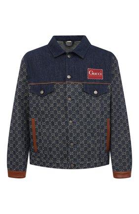 Мужская джинсовая куртка GUCCI синего цвета, арт. 649110/XDBIP | Фото 1