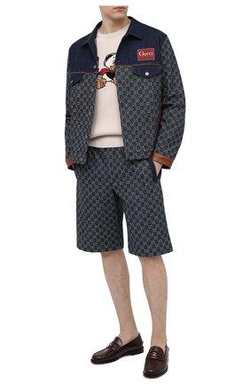 Мужская джинсовая куртка GUCCI синего цвета, арт. 649110/XDBIP | Фото 2