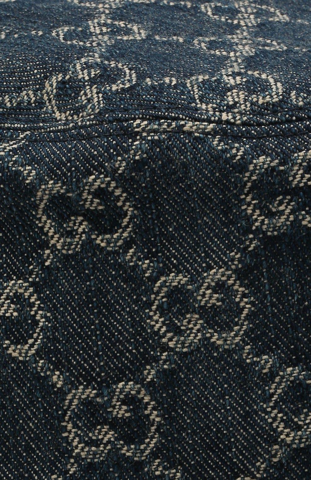 Мужская хлопковая панама GUCCI синего цвета, арт. 576371/4HAC3   Фото 3