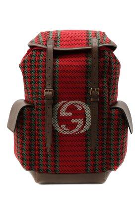 Мужской текстильный рюкзак GUCCI красного цвета, арт. 625939/2J9AT | Фото 1