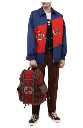 Мужской текстильный рюкзак GUCCI красного цвета, арт. 625939/2J9AT | Фото 2