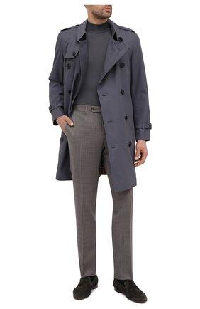 Мужские замшевые пенни-лоферы marcello ERMENEGILDO ZEGNA темно-зеленого цвета, арт. A4675X-LHCAC | Фото 2 (Стили: Классический; Материал внутренний: Натуральная кожа; Мужское Кросс-КТ: Лоферы-обувь; Материал внешний: Замша)
