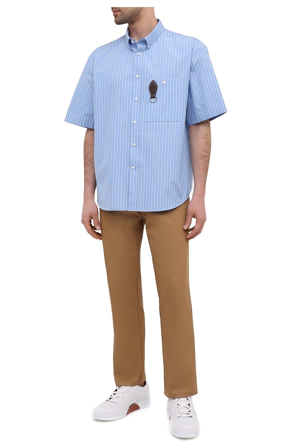 Мужские кожаные кеды tiziano ZEGNA COUTURE белого цвета, арт. A4867X-LHNTP | Фото 2 (Материал внутренний: Натуральная кожа; Подошва: Массивная)