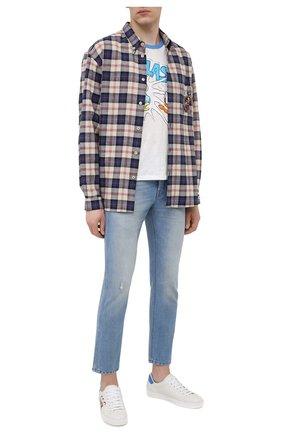 Мужские кожаные кеды ace disney x gucci GUCCI белого цвета, арт. 649398/AY070 | Фото 2