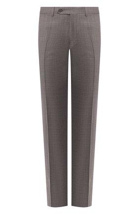 Мужские шерстяные брюки CANALI коричневого цвета, арт. 71019/AA02526 | Фото 1