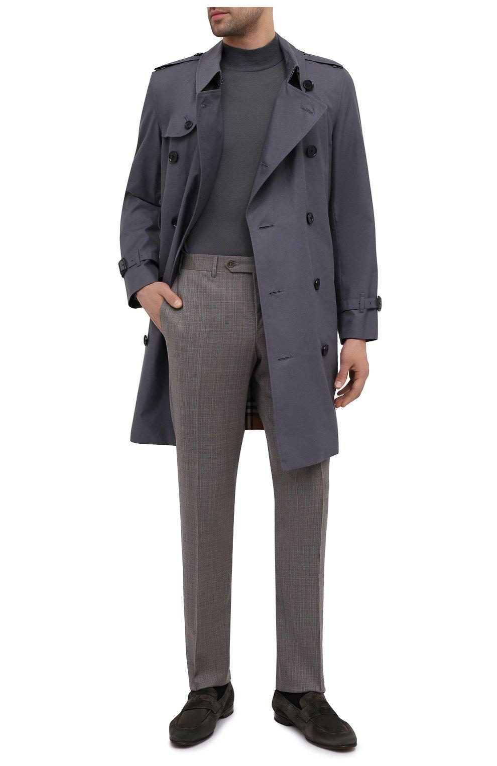 Мужские шерстяные брюки CANALI коричневого цвета, арт. 71019/AA02526 | Фото 2